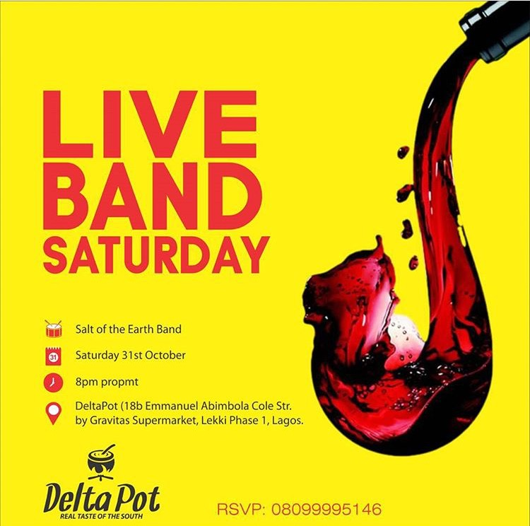 Deltapot live band saturday