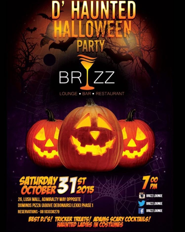 Halloween party brizz lounge